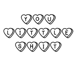 shit, overlay, and hearts image