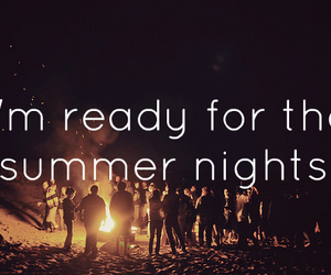 summer, night, and friends image