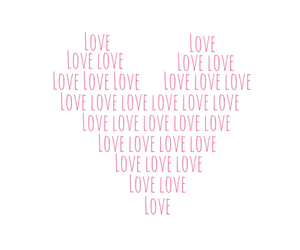 love, heart, and pink image