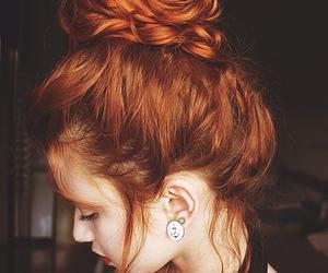 hair, redhead, and braid image