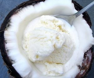 coconut, ice cream, and food image