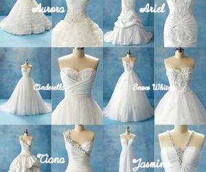 disney and wedding dress image