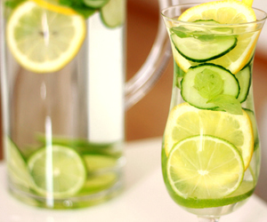 cucumber, lemon, and refreshing image