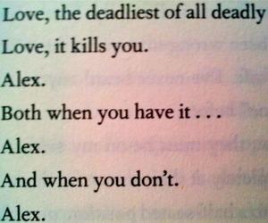 love, alex, and delirium image