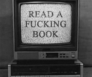 b&w, book, and funny image