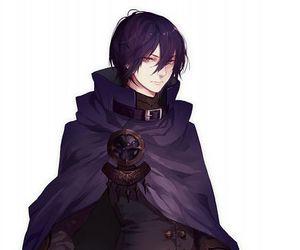 anime, black king, and boy image