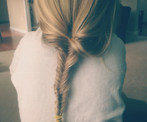 blond, fishtail, and grunge image