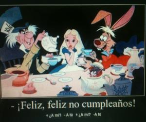 alicia, sombrerero loco, and feliz no cumpleaños image