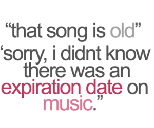 music, text, and quote image