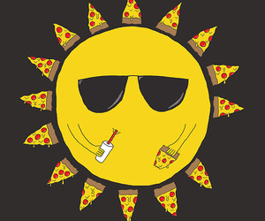 pizza and sun image