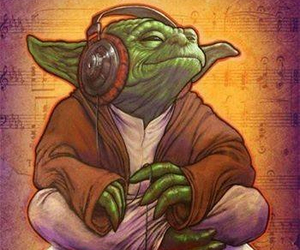 yoda, music, and r2d2 image