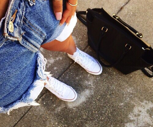 bag, shorts, and jeans image