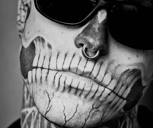 black and white, bones, and boy image