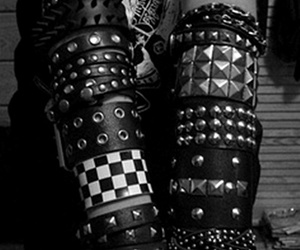 black and white, punk, and rock image