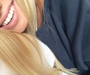 blonde and smile image