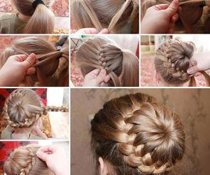 braid, creative, and hair image