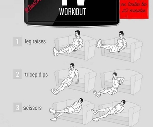 workout, fit, and tv image
