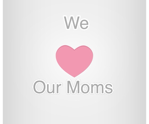 girly, heart, and mom image