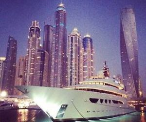 luxury, city, and yacht image