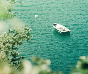 sea, boat, and nature image