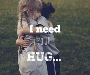 hug, i, and need image