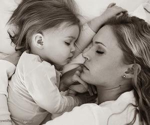 sleep, baby, and mother image