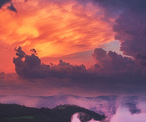 clouds, dreamy, and night image