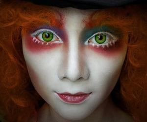 alice in wonderland, makeup, and Halloween image