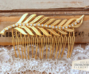 accessories, hair comb, and vintage style image