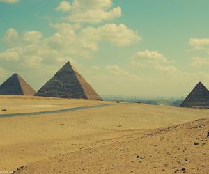 egypt, pyramid, and desert image