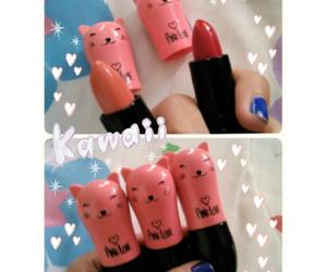 girl, kawaii, and lipstick image