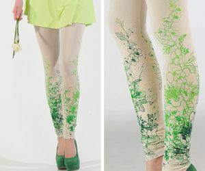fashion, flowers, and leggings image