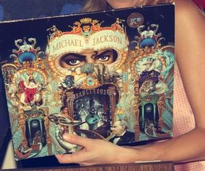 dangerous, michael jackson, and vinyl image