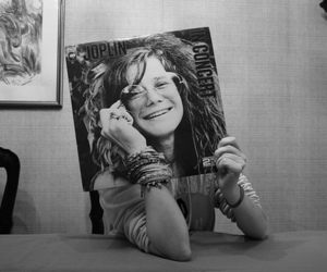 janis joplin, black and white, and music image