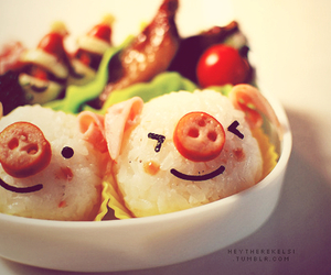 food, cute, and pig image