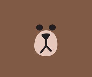 line, brown, and bear image