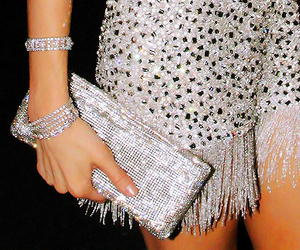 fashion, dress, and glitter image
