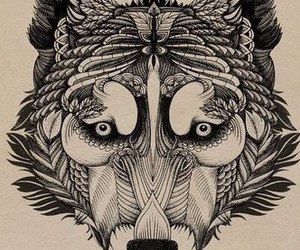tattoo, wolf, and lobos image