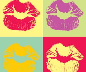 kiss, lips, and pop art image