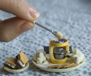cute, smores, and food image