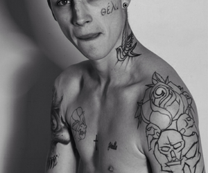handsome, model, and Tattoos image