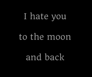hate and moon image