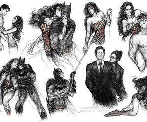 batman, bruce wayne, and wonder woman image