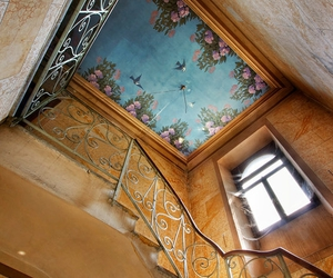 antique, ceiling, and art image