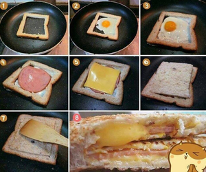 bread, breakfast, and cheese image