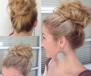 messy bun and hair updo image