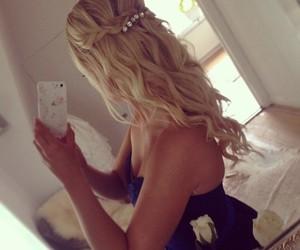 blonde, braid, and happy image