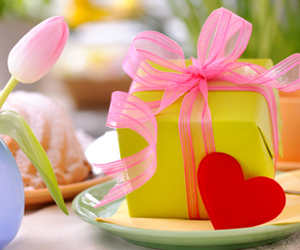 cadeau, flower, and gift image