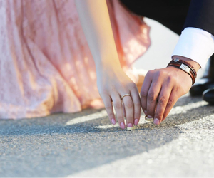 love, girl, and ring image