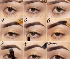 makeup, diy, and eyebrows image